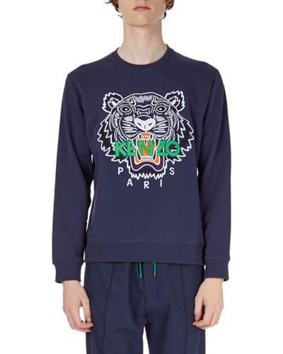 Tiger-Graphic Sweatshirt