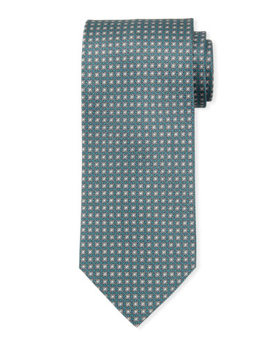 Brioni Oval-Print Silk Tie