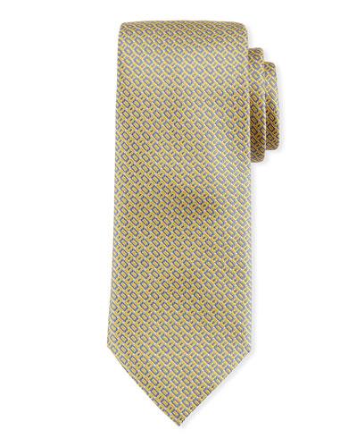 Rectangle Design Silk Tie