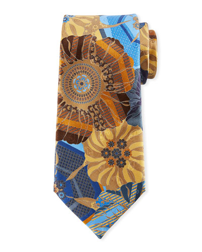 Quindici Mosaic Silk Tie, Yellow