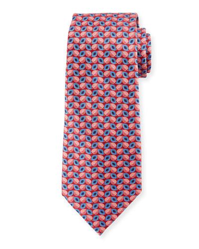 Alternating Leafs Silk Tie