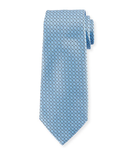 Ermenegildo Zegna Connected Diamond Silk Tie