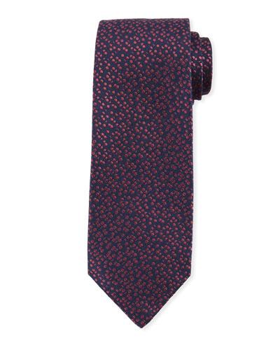 Pebble-Textured Silk Tie