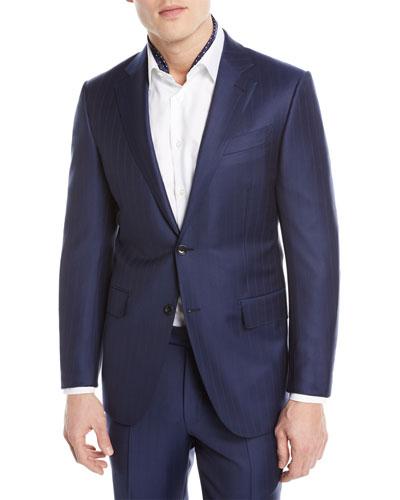 Twin Striped Trofeo® Wool Two-Piece Suit