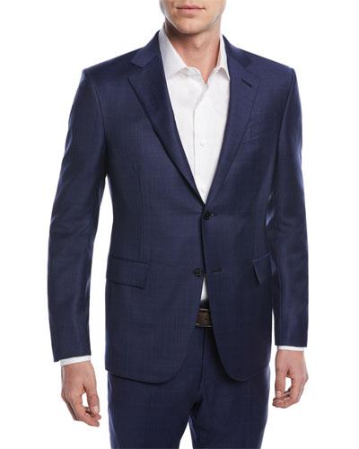 Tonal Plaid Trofeo® Wool Two-Piece Suit
