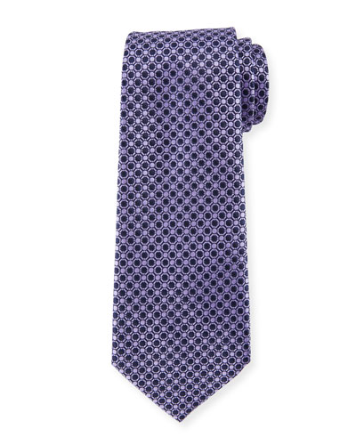 Ermenegildo Zegna Connected Circles Silk Tie