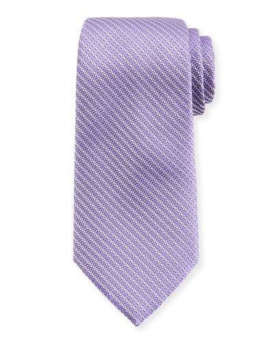 Diagonal Chain Silk Tie