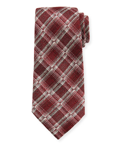 Seasonal Plaid Silk/Linen Tie