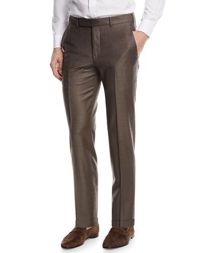 Trofeo Wool Dress Pants, Brown