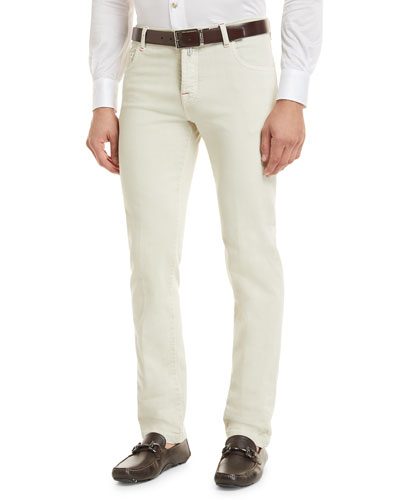 Denim Five-Pocket Jeans, Tan