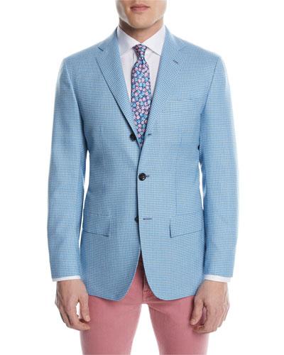 Check Cashmere Two-Button Sport Coat