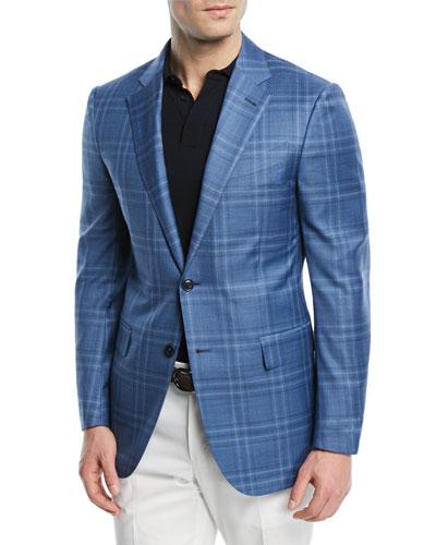 Plaid Wool-Silk Sport Coat