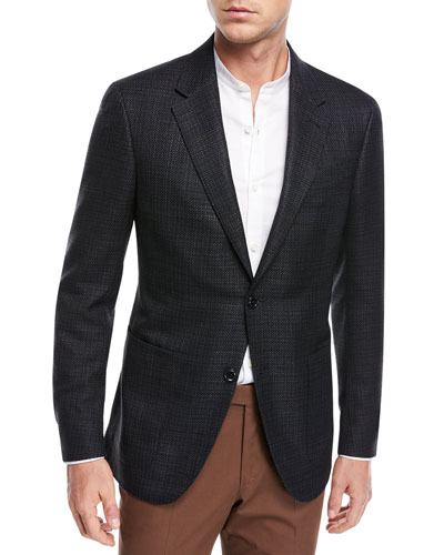 Textured Silk/Cotton Blazer
