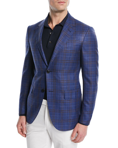 Wool-Silk Plaid Jacket