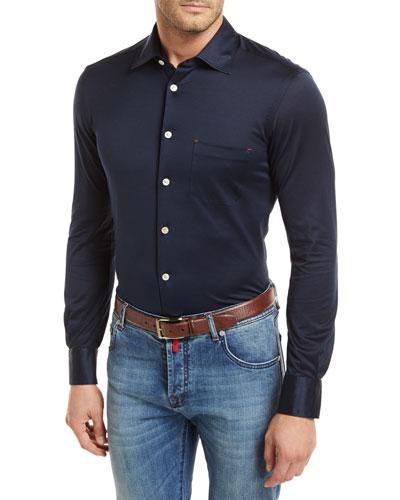 Knit Long-Sleeve Sport Shirt