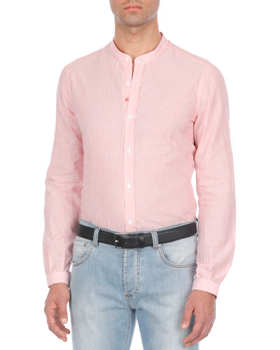Textured Cotton-Blend Sport Shirt