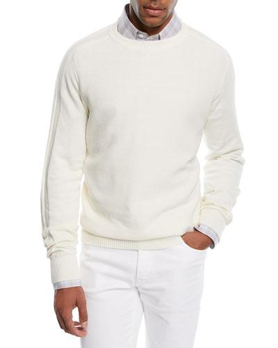Cashmere-Blend Honeycomb Sweater