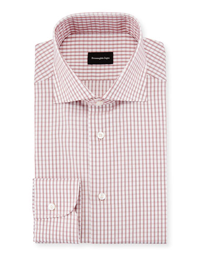 Graph Check Dress Shirt, Red/White