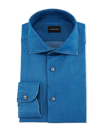 Denim Chambray Dress Shirt