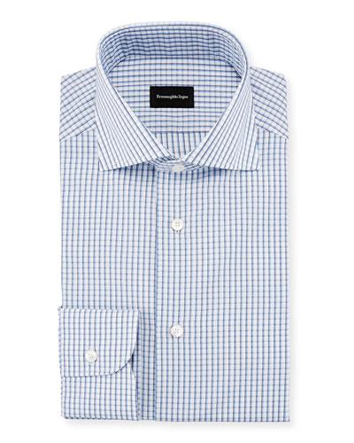 Three-Line Check Dress Shirt