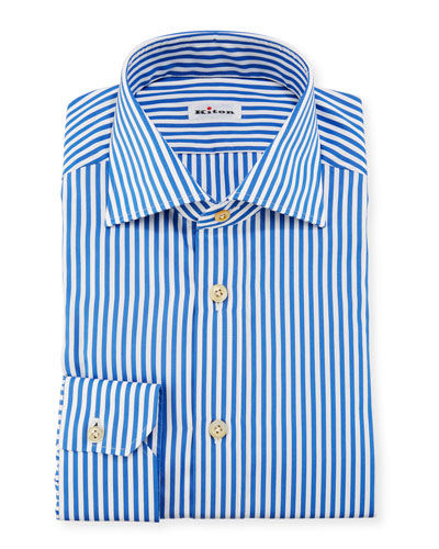Bengal-Stripe Dress Shirt, Blue/White