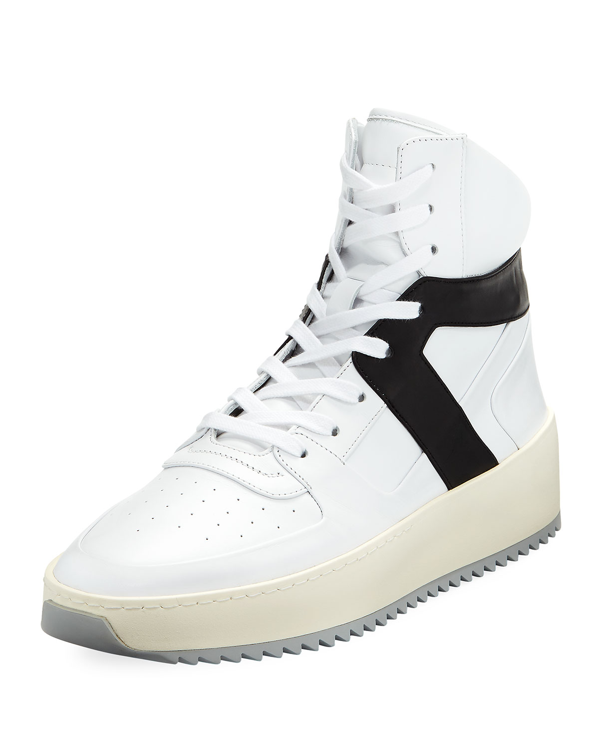 Basketball Panelled Leather High-top Sneakers - WhiteFear of God 3MW0vQFq
