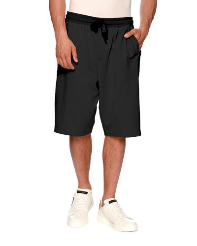 Logo Drawstring-Waist Shorts