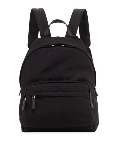 Nylon & Leather Backpack