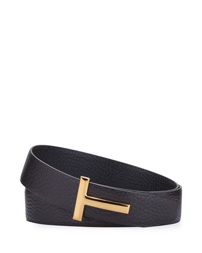 T-Buckle Leather Belt