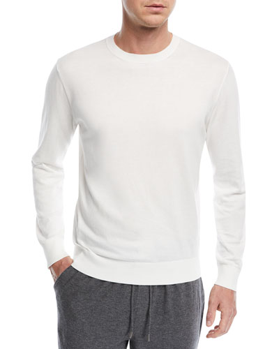 Crewneck Long-Sleeve Top