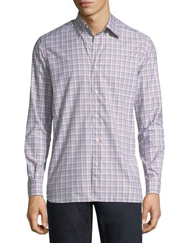 Large-Check Cotton Sport Shirt