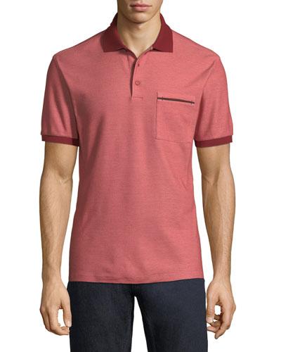0fb812732f1 Spread Collar Polo Shirt   bergdorfgoodman.com