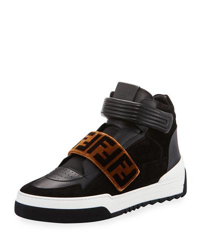 Zucca Grip-Strap High-Top Sneaker