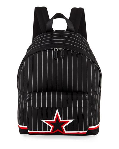 Ico Prints Striped Backpack