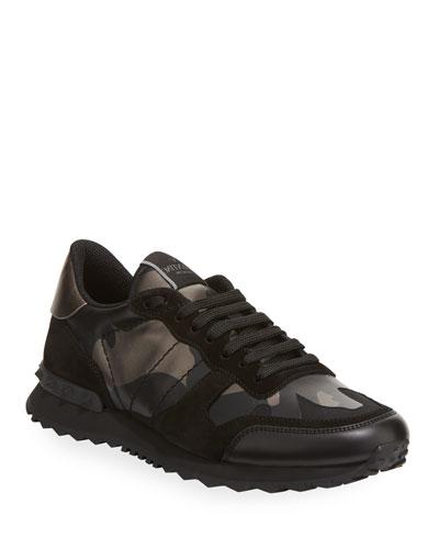 Men's Rockrunner Camo Leather Sneakers