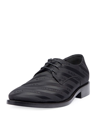 Striped Lace-Up Derby Shoe