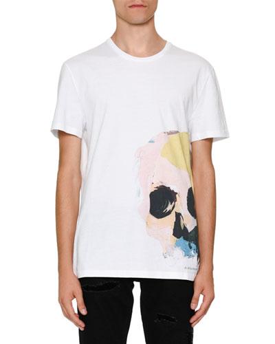 Painted Skull Graphic T-Shirt