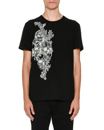 Printed Skull Graphic T-Shirt