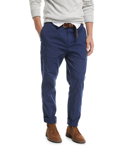 Leisure-Fit Cargo Pants, Dark Blue