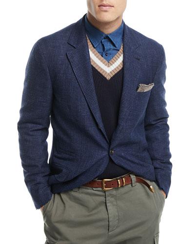 Heathered Wool/Linen Sport Jacket