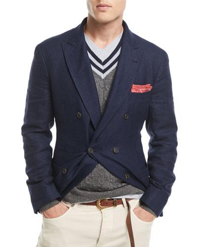 Traditional Hopsack Sport Jacket