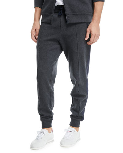 Spa Jogger Sweatpants with Front Crease