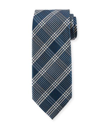 TOM FORD Color Ground Plaid Silk Tie