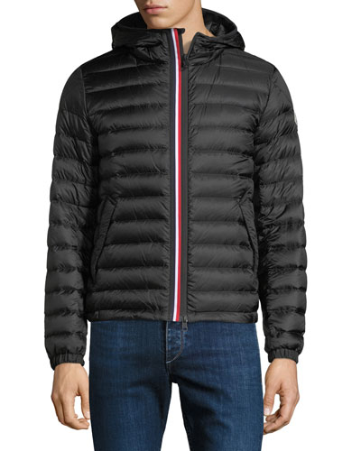 moncler grey flannel down puffer