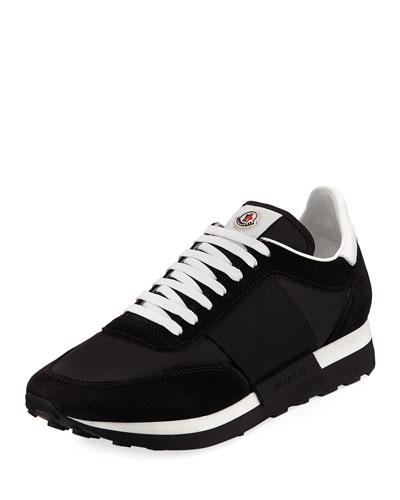 Horace Suede & Nylon Trainer Sneaker, Black