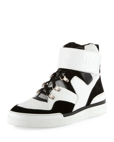 Two-Tone High-Top Sneaker