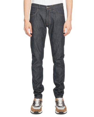 Dark-Wash Denim Jeans