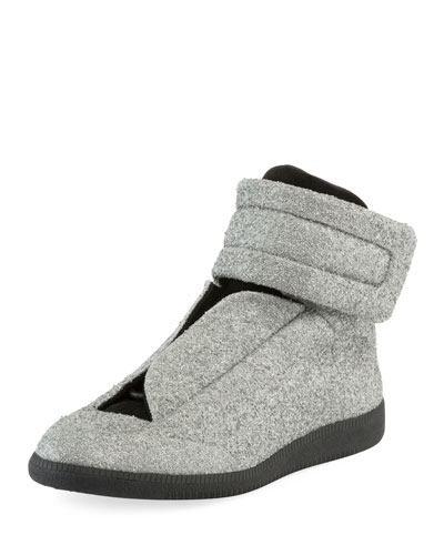 Glitter Future High-Top Sneaker, Silver