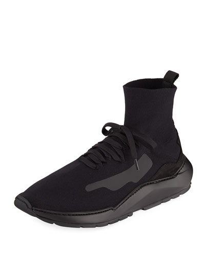 Men's Mid-Top Knit Arch Running Sneakers