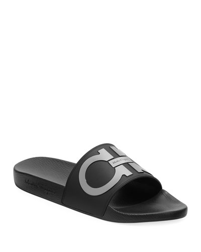 663e9a90c34 Men s Groove Gancini Slide Sandal Quick Look. Salvatore Ferragamo